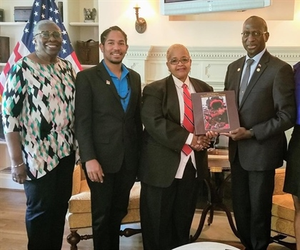 Pan Trinbago and CAFE at the Embassy of Trinidad and Tobago in...