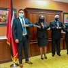 New Culture Minister Senator Randall Mitchell meets with Pan Trinbago Executive