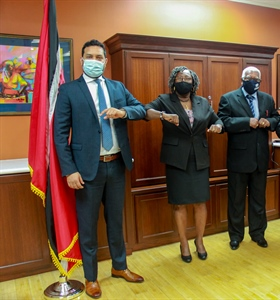 New Culture Minister Senator Randall Mitchell meets with Pan Trinbago...