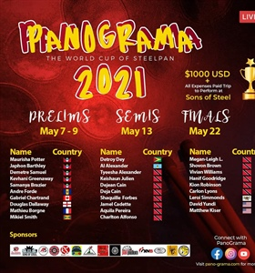 PANO-GRAMA 2021 - The World Cup of Steelpan : MAY 7 - 22