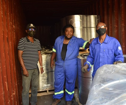 Pan Trinbago Drum Factory receives steel shipment ..